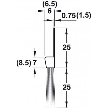 Uszczelka szczotkowa For Full Końskie włosie 25mm dł 1m