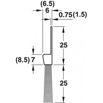 Uszczelka szczotkowa For Full Poliamid  25mm dł 1,25m