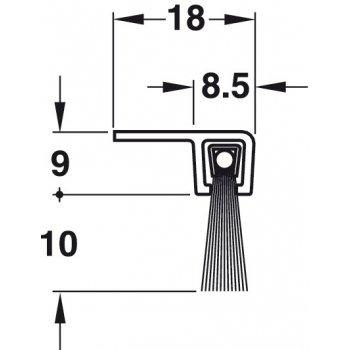 Uszczelka szczotkowa For Face Poliamid 10mm dł 1,25m