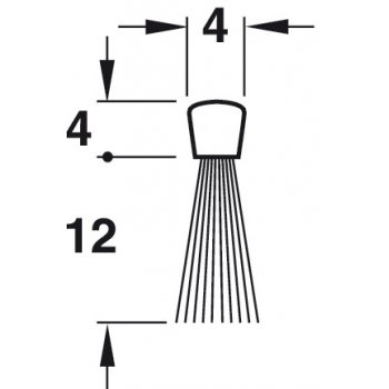 Uszczelka szczotkowa Fitting Poliamid 12mm dł 1m
