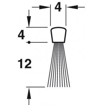 Uszczelka szczotkowa Fitting Poliamid 12mm dł 1,25m