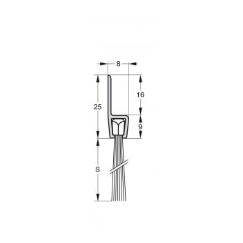 Uszczelka szczotkowa Stribo H5 Szczotka 25mm dł 3m