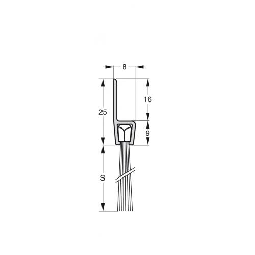 Uszczelka szczotkowa Stribo H5 Szczotka 35mm dł 3m