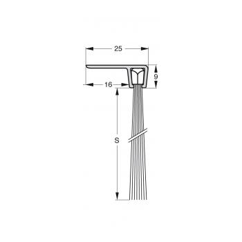 Uszczelka szczotkowa Stribo F5 Szczotka 45mm dł 1m