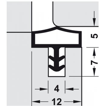 Uszczelka M 680 Deventer Transparentna 25m