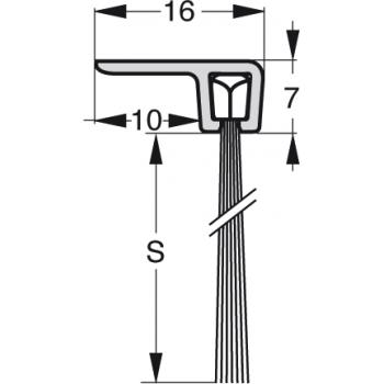 Uszczelka szczotkowa Stribo F3 Szczotka 14mm dł 1m