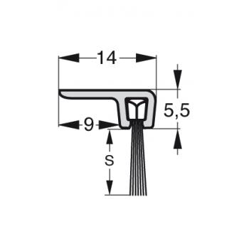 Uszczelka szczotkowa Stribo F2 Szczotka 10mm dł 1m