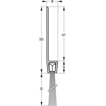 Uszczelka szczotkowa Stribo G5 Szczotka 45mm dł 1m