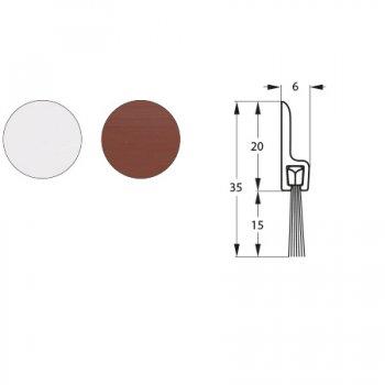 Uszczelka szczotkowa nawierzchniowa Brązowa dł. 925mm