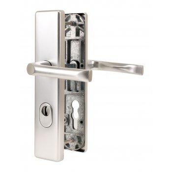Klamka drzwiowa JUNO 92mm z zabezpieczeniem