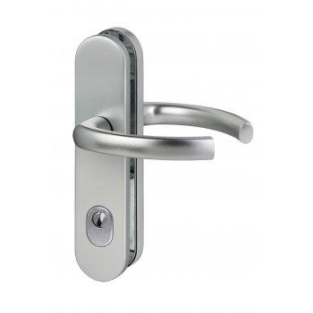 Klamko drzwiowa Logo 72mm z zabezpieczeniem