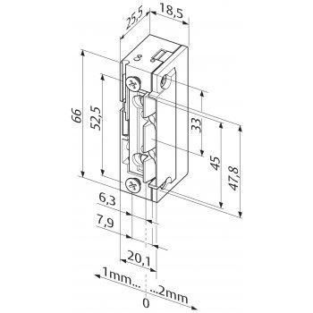 Elektrozaczep EffEff 138.13-----E91 Profix2 Rewers 12V DC