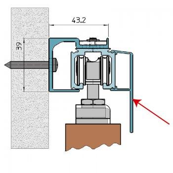 Osłona Aluminiowa do Systemu Koblenz 500New dł 2m