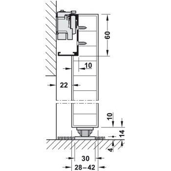 System przesuwny Magic2 dł.1100mm drzwi drewniane