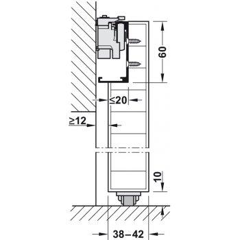 System przesuwny Magic2 dł.1800mm drzwi drewniane