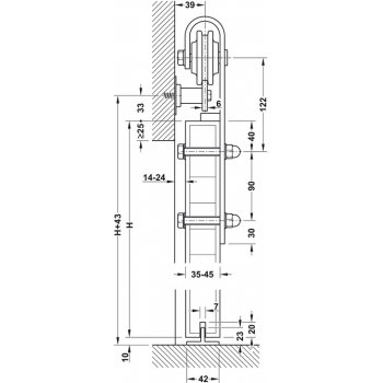System Slido Desing-100kg Szerokość 2,5m