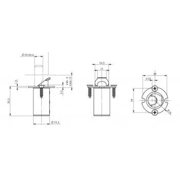 Zaczep automatyczny ISEO 032-144