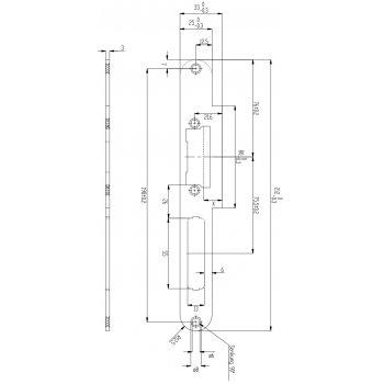 Zaczep 15D35-SYM do Elektrozaczepów EffEff Profix2