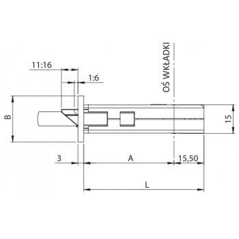 Zamek przeciwwłamaniowy Performa 92/35mm SN U-kształtna