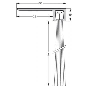 Uszczelka szczotkowa Stribo F8 Szczotka 60mm dł 1m