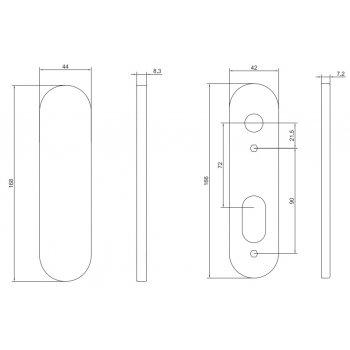 Rozeta ślepa AHW77000BL 72mm P.Poż. Stal nierdzewna