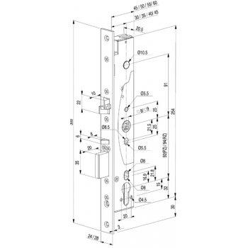 Abloy EL420 Zamek Elektromotoryczny 35/24mm
