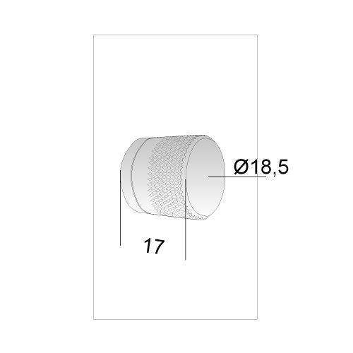 Gałka WC 6mm do zamka B-NO-HA Stal nierdzewna