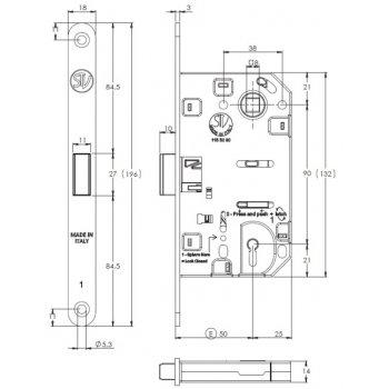 Zamek magnetyczny STV A5 Klucz BB