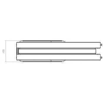 Zawias wahadłowy dwukierunkowy do szkła Pivot 100kg z domykiem SN