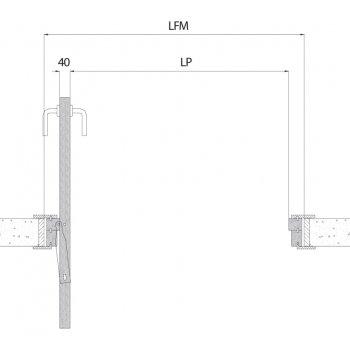 System Ergon Living T.E przesuwno-obrotowy 70kg srebrny