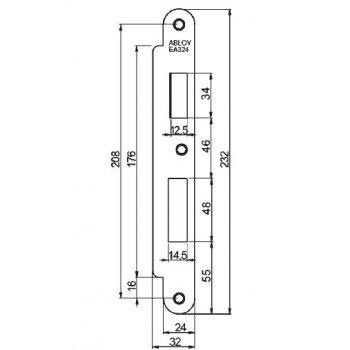 Blacha zaczepowa EA324 do zamków Abloy EL