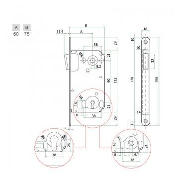 Zamek magnetyczny Bonaiti B-Twin Klucz