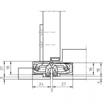Zawias Simonswerk Tectus TE240 3D Srebrny F1