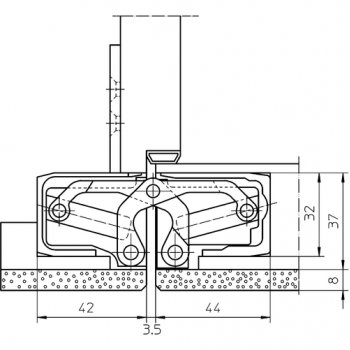 Zawias Simonswerk Tectus TE640 A8 3D Srebrny F1 Nakładki 8mm